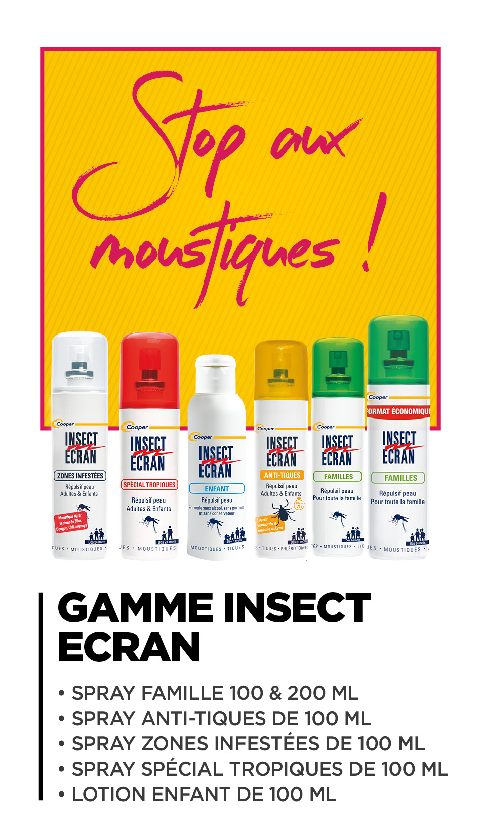 Gamme Insect Ecran